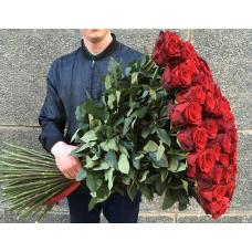 Букет 101 красная роза 100 см.