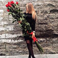 Букет 15 красных роз 170 см.