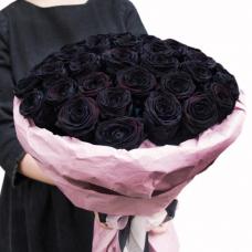 Букет 35 черных роз