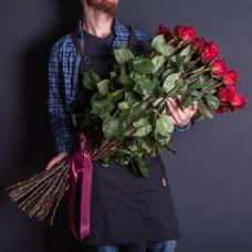 Букет 51 красная роза 100 см.
