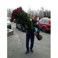 Букет 51 красная роза 150 см.