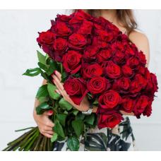 Букет 51 красная роза 80 см.