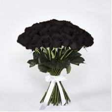 Букет 51 черная роза