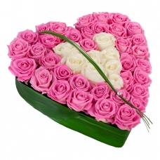 Сердце из цветов Чистое блаженство