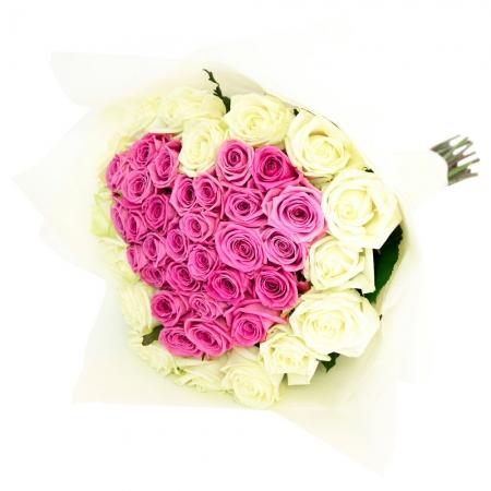 Сердце из цветов Феерия красок