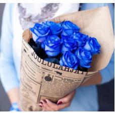 Букет 9 синих роз