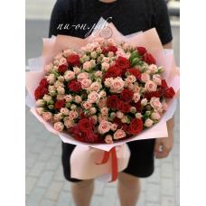 41 кустовая роза микс