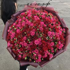 Букет 101 кустовая роза