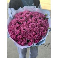 "51 пионовидная роза ""мисти-баблз"" (50 см)"