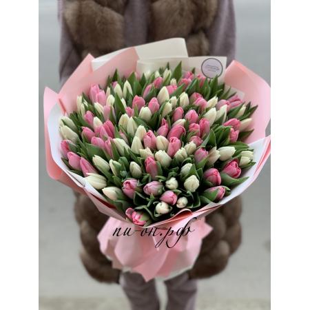 Букет из тюльпанов «Краски любви»