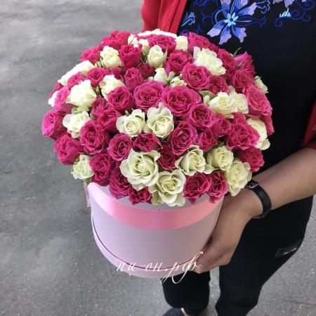 Шляпная коробка Розовый фонтан