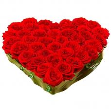 Сердце из цветов Откровенное признание