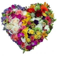 Сердце из цветов Девичья мечта