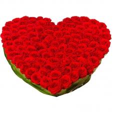 Сердце из цветов Любовный пожар