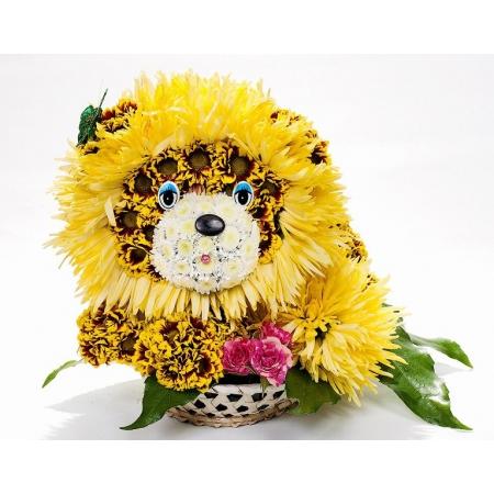 Игрушка из цветов Лев