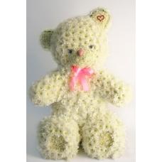 Игрушка из цветов медведь большой