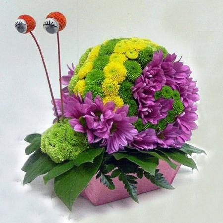 Игрушка из цветов Улитка