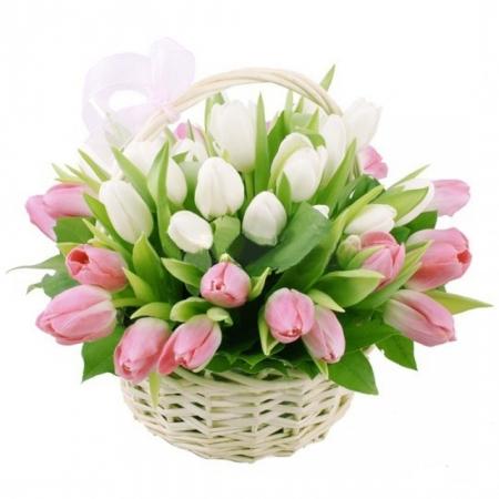 Цветы в корзине Сила притяжения