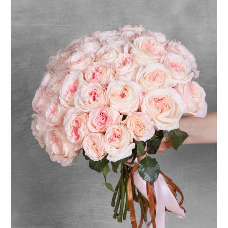 """Букет из пионовидных роз """"Mayras Bridal"""" (35 шт.)"""