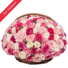Композиция из пионовидных роз «Восторг» (101, 201, 301)