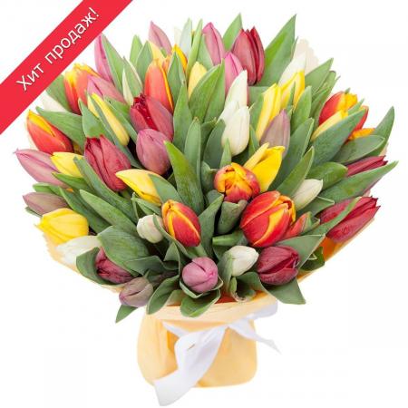 Букет из тюльпанов «Понравится всем»
