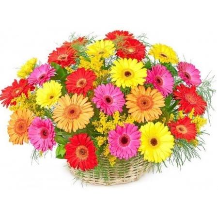 Цветы в корзине Красочный фейерверк