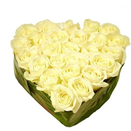 Сердце из цветов Сердечная нежность