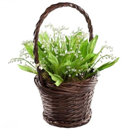 Цветы в корзине Робкие знаки внимания