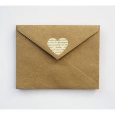 Карточка с вашим текстом в конверте