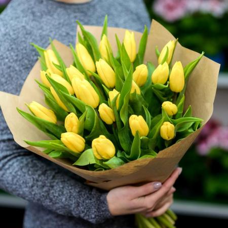"""Букет тюльпанов """"Луч солнца"""""""